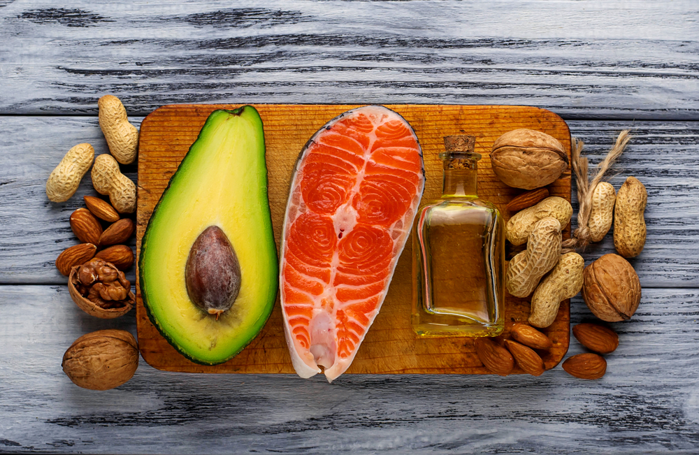 nuts, avocado, salmon and olive oil - ketogenic foods